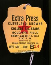 1950 Cleveland Browns World Champs v College All Stars Press Pass Ticket 23584