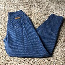 "Jordache vintage mom jeans high rise women's size 28""x32"" blue striped Hong Kong"