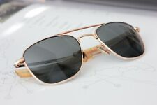 Vintage Ao American Optical Aviator Sunglasses 12K Airforce Base