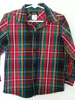 Holiday Editions Boys Button Down Shirt Size 3T Multi Color Red Plaid