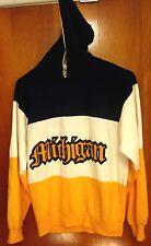 MICHIGAN WOLVERINES University lrg hooded sweatshirt U of M boater hoodie