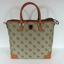 New Dooney & Bourke Quilted Chelsea tote bag woven shopper magnetic snap closure