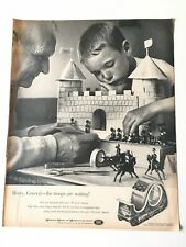 Scotch Cellophane Tape 1960s B&W Vintage Magazine Ad Troops Are Waiting