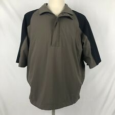 Distressed Nike Golf 1/2 Zip Pullover Shirt XL Storm Fit Jacket Lined