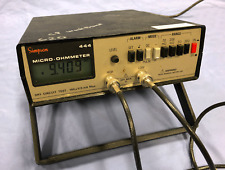 Simpson Micro Ohmmeter 444 Micro Ohmmeter Withprobes Recent Calibration