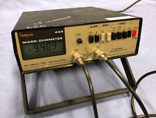 Simpson Micro-Ohmmeter 444 Miro Ohmmètre W/Sondes Récent Calibrage