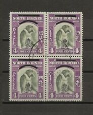 More details for north borneo 1945 sg 338/a used block cat £33