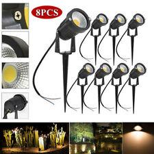 8PCS Outdoor LED Landscape Lights 12V-24V 5W Waterproof COB LED Garden Lights