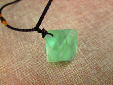 Green Flourite Gem Stone Crystal Pendant Necklace Natural Healing Gemstone UK