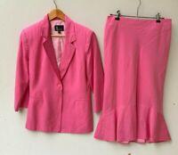 LOUNGE AUSTRALIA women's pink business suit skirt jacket blazer size 10