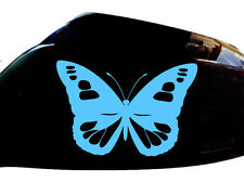 Butterfly Girl Car Stickers Wing Mirror Styling Decals (Set of 2), Light Blue