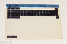 Microfich Spare Parts Catalog Yamaha YZ 250 ab 1985