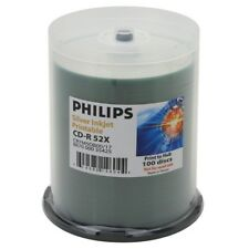 600 Philips 52X Silver Inkjet HUB Printable CD-R Disc
