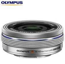 New OLYMPUS M.ZUIKO 14-42mm f/3.5-5.6 EZ Lens *Silver (Bulk Package)