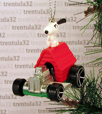 Snoopy SOPWITH CAMEL Hot Rod CHRISTMAS ORNAMENT Peanuts Doghouse Charlie Brown