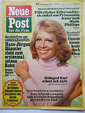Neue Post 40/1975 Hildegard Knef, Romy Schneider, Johanna Matz, Helen Vita