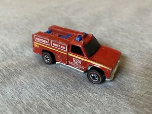 Vintage Hot Wheels 1974 Rescue Vehicle-Emergency Unit 50 First Aid Fire Truck