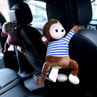 Creative Cartoon Tissue Animal Monkey Car Hanging Paper Napkin Box Cute Holder