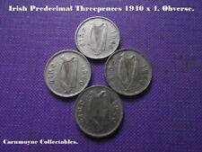 Irish Predecimal Threepence 1940 x 4. AH5335.