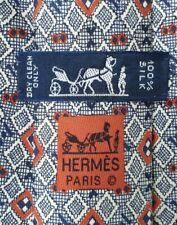 Very Rare Genuine Hermes Tie Krawatte 7699 OA Pristine Condition.