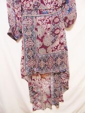 FIRE Los Angeles Women's High/Low Dress M/Medium Paisley Maxi Chic Party Lined