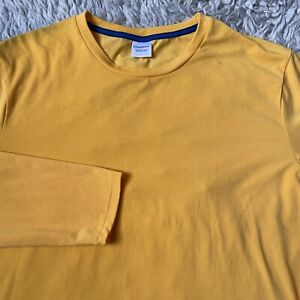 Outdoor Voices Mens Large Yellow Weekender Long Sleeve T Shirt