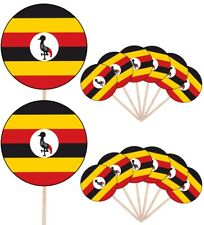 Uganda Flags Party Food Cup Cakes Picks Sticks Decorations Toppers
