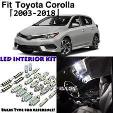 7 x White Interior LED Lights Package Kit For Toyota Corolla 2003 - 2015 2018