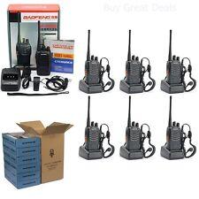 Set of 6 Two-Way Radio Walkie Talkie Handheld Communication UHF Antenna Earpiece