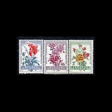 Belgium, Sc #540-42, MNH, 1960, Flowers, Azalea, Begonia, Bromelia, CL85F