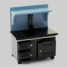 Dolls House Furniture : Kitchen Range : Blue & Black Oven / Cooker : 12th scale