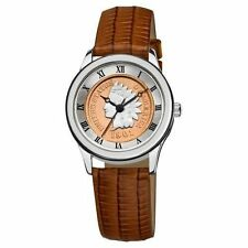 August Steiner Women's Cn005s-as Round Indian Head Penny Collectors Silver-tone