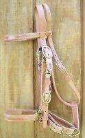 Halter/Bridle Combo - Heavy Duty Harness Leather