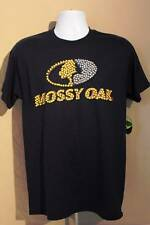 NEW Mens T Shirt Mossy Oak Large Navy Blue Top Deer Hunting Graphic Tee Clothes