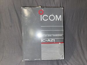 ICOM IC-A21 VHF Air Band Transceiver Navicom & Accessories Tested and Working