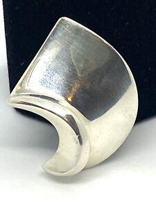 Georg Jensen H & H   Hans Hansen Sterling Silver  Single Clip-on  Earring