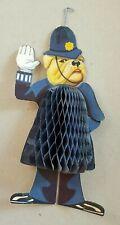 Vintage Honeycomb Decoration - Dog Policeman. 1940s / 1950s