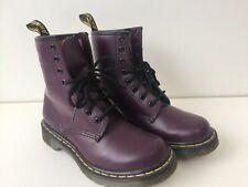 Women's 1460 Purple Leather Dr martens Boots Uk5 EU38 Lightly Worn