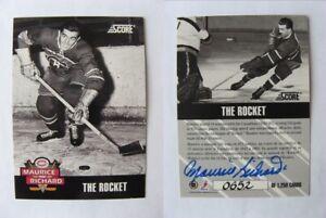 1992-93 Score Maurice Richard 0652/1250 the rocket AUTO autograph RARE