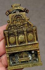 1800's Victorian ANTIQUE Vintage CHESTER LECHE HOUSE Brass DOOR KNOCKER England
