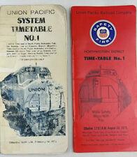 2 Union Pacific Railroad Timetables 1973, 1975