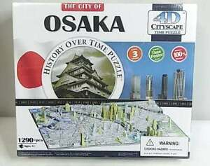 4D Cityscape Jigsaw Puzzle - Osaka City Map With Time Layer - NEW 1290+ Pieces