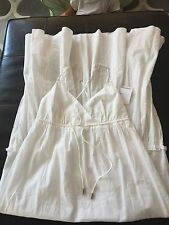 REDUCED! Double Standard Clothing White Cotton Maxi Long Dress NWT