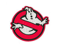 GHOSTBUSTERS BLACK Iron on / Sew on Patch Embroidered Badge Cartoon Ghost PT580