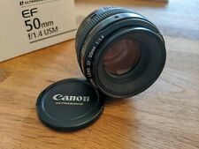 Canon EF 50mm f/1.4 USM Lens w/ Hood - Great Condition Barely Used