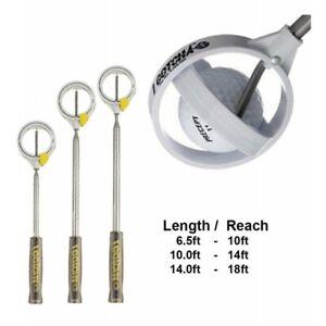 IGotcha Compact Telescopic Golf Ball Retriever - 10ft, 14ft or 18ft Reach