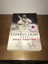 Ricky Ponting Signed Book 2008 Captains Diary Photo Proof Cricket Australia Test