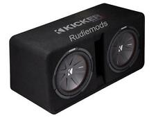 "Kicker 43DCWR122 CompR Dual 12"" Vented Car Audio Subwoofer Bass Box - 1000w RMS"