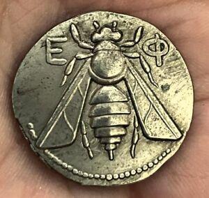 Ancient Greek Tetradrachm Silver Plated Coin