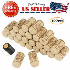Lot of 100 Real/Natural Wooded Wine Corks NO Plastic or Champagne arts&crafts US